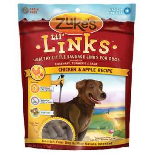 Zukes Lil' Links Chicken & Apple Dog Treats, 6oz