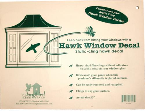 Songbird Essentials Static Cling Window Hawk 2 Per Package (Replaces the VIHAWK)