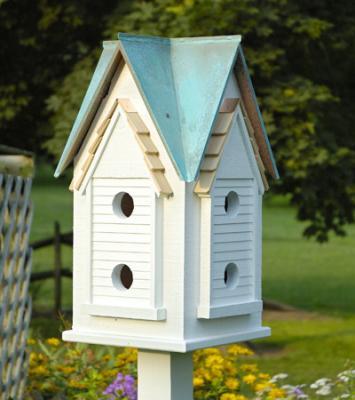 Heartwood Victorian Mansion Birdhouse, Verdi Roof