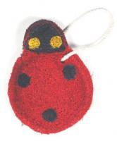 Loofah Art Ladybug