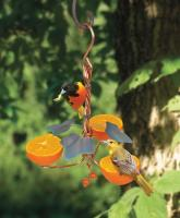 Songbird Essentials Copper Triple Fruit Oriole Bird Feeder with Ivy