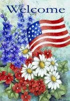Toland Patriotic Welcome Garden Flag