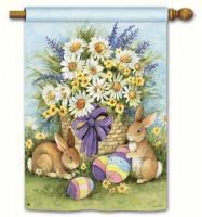 Magnet Works Easter Bunnies Standard Flag