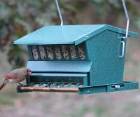 Heritage Farms Absolute Squirrel Proof Bird Feeder (with Pole and Hanger)