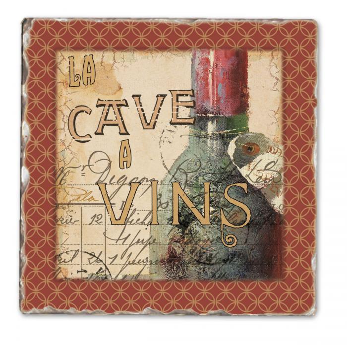 Counter Art French Cellar Single Tumbled Tile Coaster