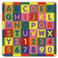 Alessco 6'6' x 6'6' Numbers and Letters Soft & Safe Play Mat Set