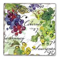 Counter Art Vin 27 Single Tumbled Tile Coaster
