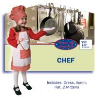 Dress Up America Red Gingham Girl Chef - Small 4-6