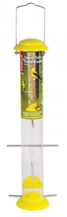 "Hiatt Manufacturing 19"" Finch Tube Bird Feeder"