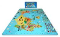 Alessco 6'x 6' x 4' World Map Foam Puzzle Floor Set