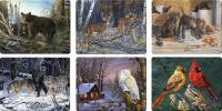 Rivers Edge Products Wildlife Scenes Glass Cutting Board Assortment (12 pcs)