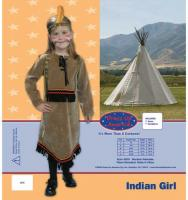 Dress Up America Deluxe Indian Girl Costume - Small 4-6