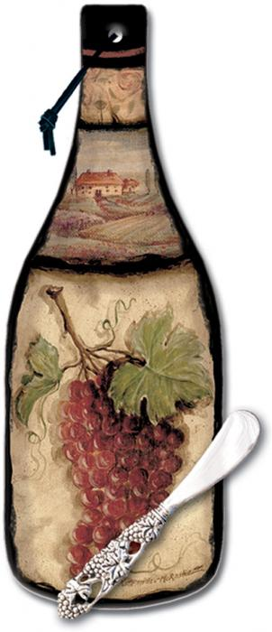 Counter Art Tuscan Collage Cheese Server