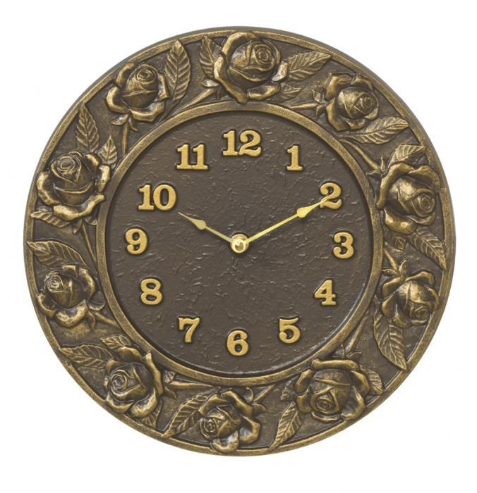 Whitehall Rose Clock - French Bronze