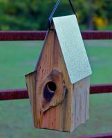 Heartwood Vintage Shed Bird House, Antique Cypress with Galvanzied Metal Roof