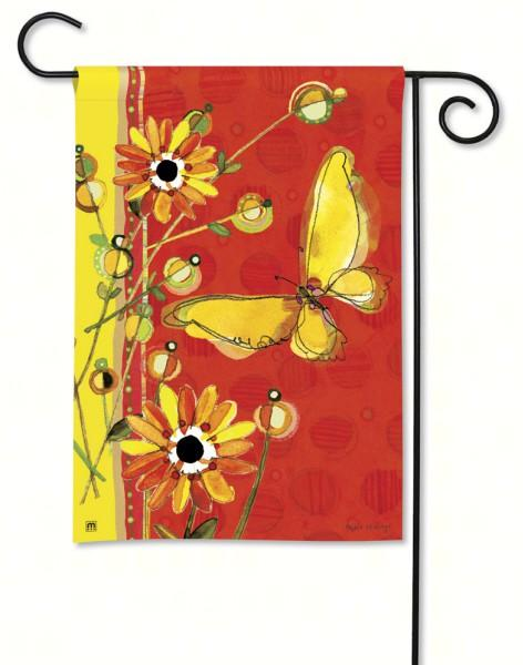 Magnet Works Yellow Butterfly Garden Flag
