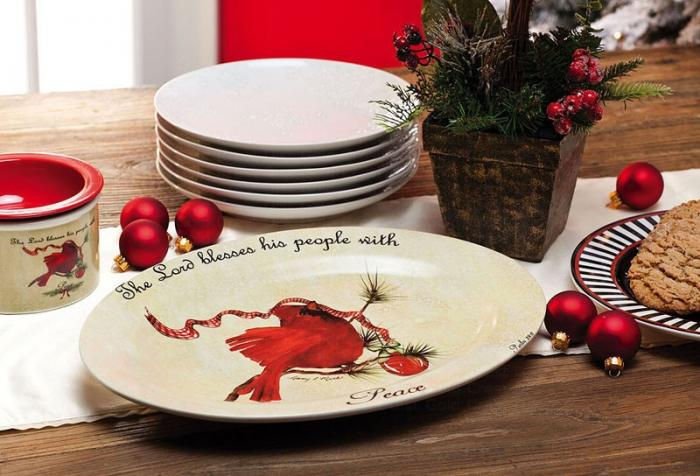 Evergreen Enterprises Cardinal Serving Platter