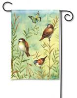 Magnet Works Sanctuary Sparrows Garden Flag