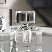 Zodax Modern Morocco Glass Small Cube Perfume Bottle Only