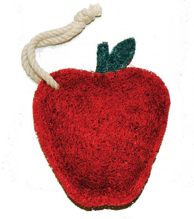 Loofah Art Red Apple