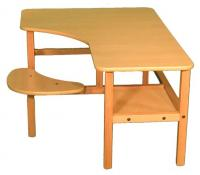 "Wild Zoo Preschool 19"" PC Desk - Maple / Tan"