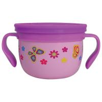 Gobble N Go Stainsteel Pink Butterfly Snack Cup