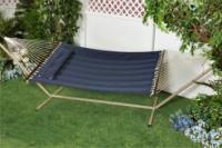 "Bliss Hammocks ""S"" Stitched Comfort Classic Poly Quilted Hammock - Denim Blue"