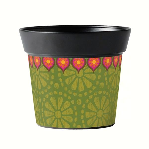 Magnet Works Gypsy Garden Green 6 inch Art Pot