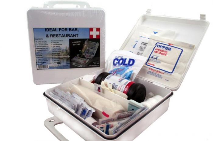 First Aid White Kit  Series with all items Necessary to Help a Group of About 24