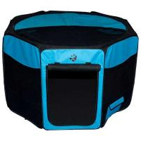 """Pet Gear Travel Lite Soft-Sided Pet Pen with Removable Top Ocean Blue 46"""" x 46"""" x 28"""""""