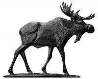 "30"" Moose Weathervane - Rooftop Black"