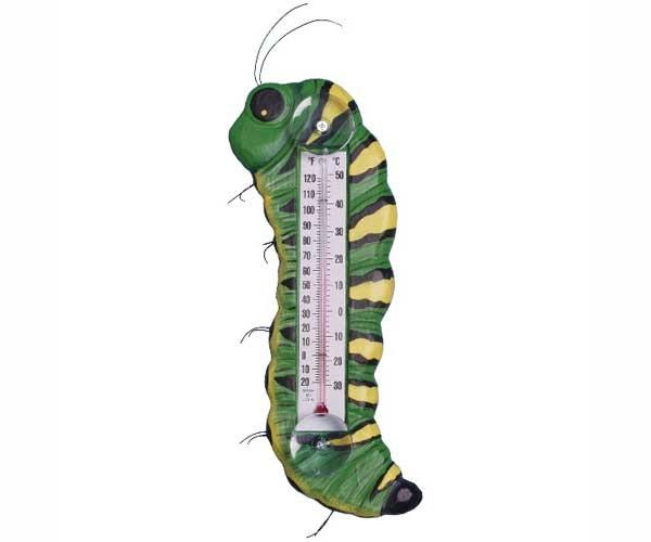 Bobbo Caterpillar Green/Yellow Thermometer Large