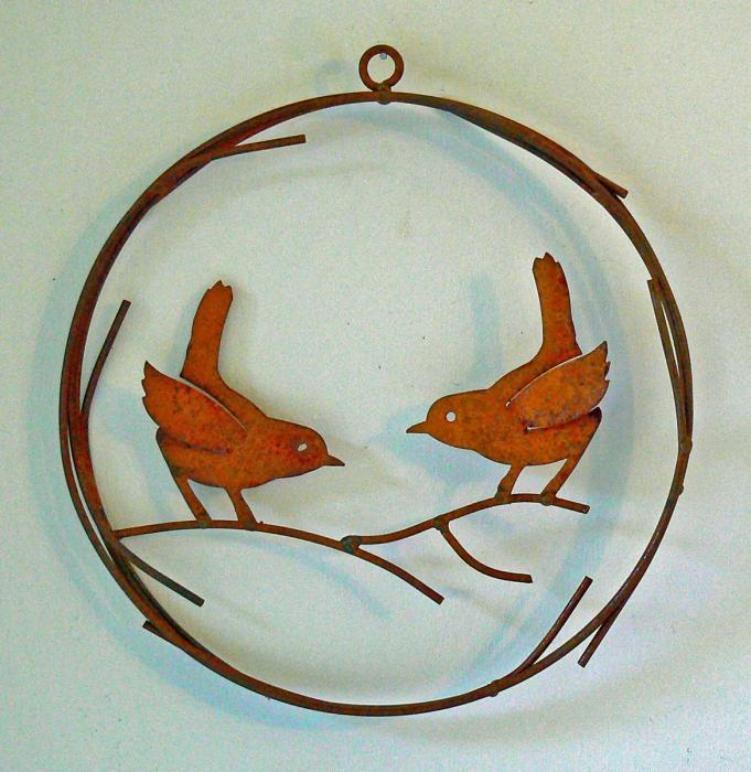 Elegant Garden Design Bird Wreath