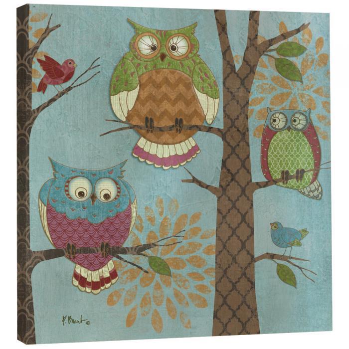 Tree Free Greetings Fantasy Owls Vertical Art Plaque