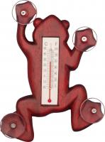 Songbird Essentials Climbing Stained Frog Small Window Thermometer