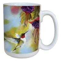 Tree Free Greetings Ruby and Fuchsia Mug 15 oz