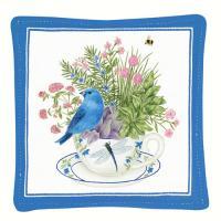 Alice's Cottage Blue Bunting Single Mug Mat