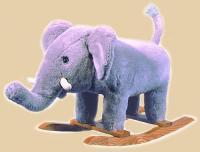 Plush Elephant Rocker