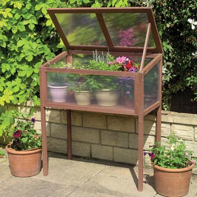 Gardman Raised Wooden Cold Frame Greenhouse