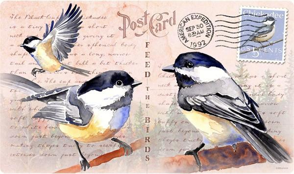 American Expeditions Chickadee Postcard Cutting Board