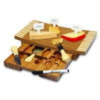 Picnic Time Concavo Cutting Board and Cheese Tool Set