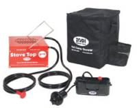 Zodi Stove Top Water Heater with 6 Volt Pump & Padded Gear Bag