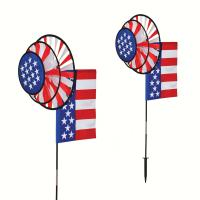 In The Breeze USA Dual Wheel Spinner with Flag