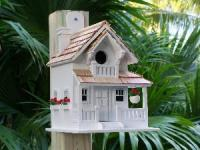 Home Bazaar Birds of a Feather Series Backyard Bird Cottage (White)