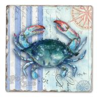 Counter Art Sea Stripes Single Tumble Tile Coaster