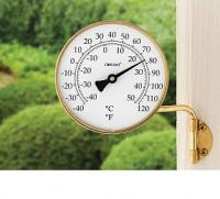 Conant Custom Brass Vermont Dial Thermometer Living Finish Brass