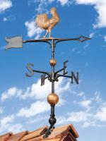 "30"" Full-Bodied Rooster Weathervane - Copper"