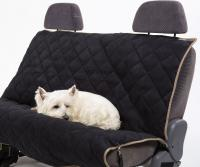 Petego Animal Basics Velvet Seat Cover Rear Seat  Black-Stone