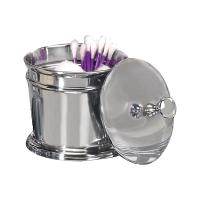Nu Steel Timeless Chrome Finish Cotton Swab/Cotton Container