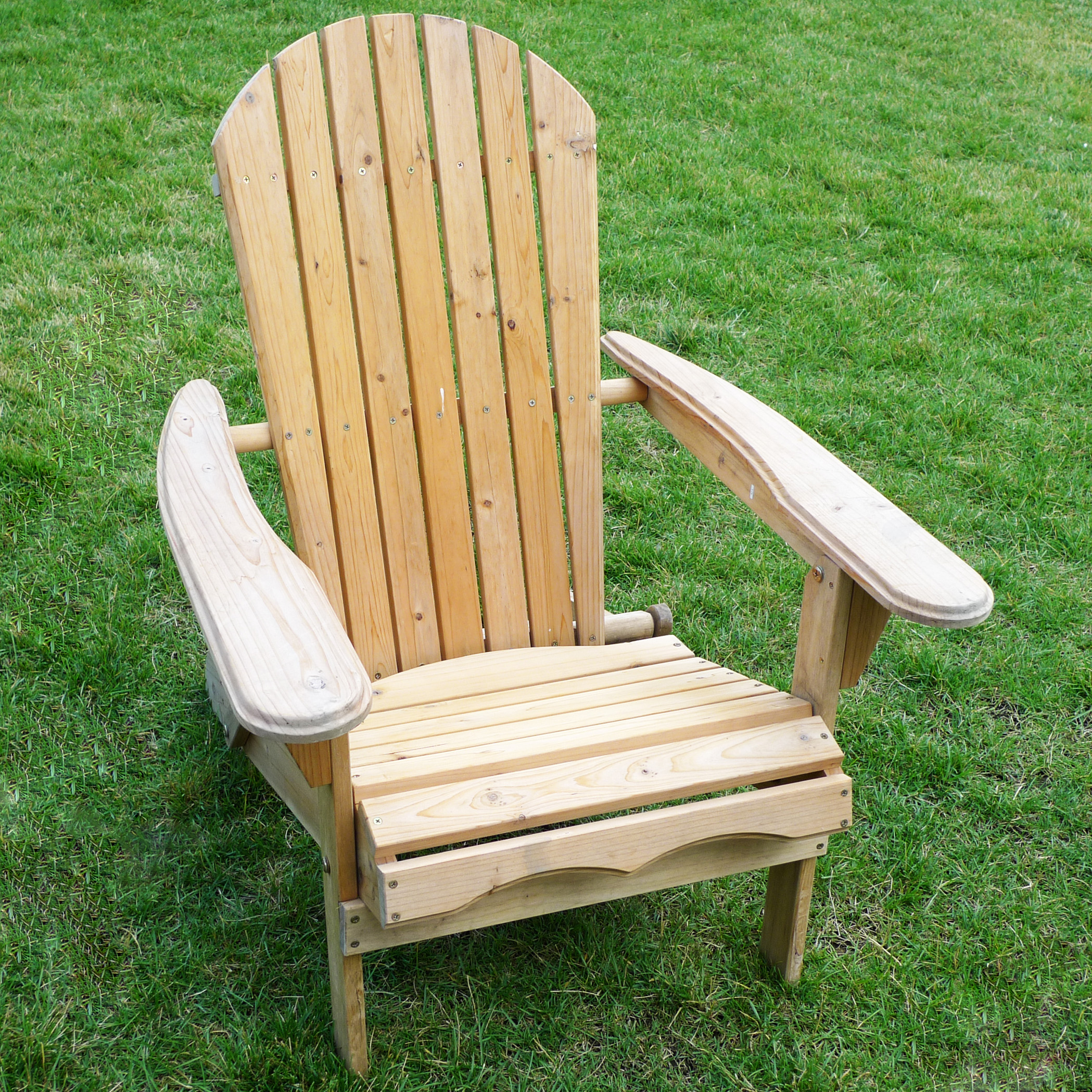 Products Foldable Adirondack Chair Fir Wood Unfinished